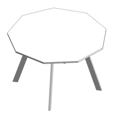 Mobiliario mesa en REVIT | MURALIT