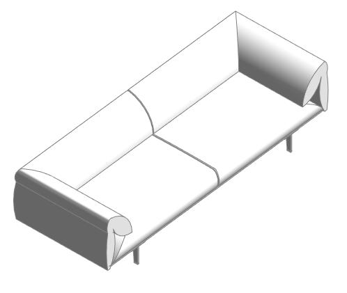 Mobiliario sillón en Revit | MURALIT