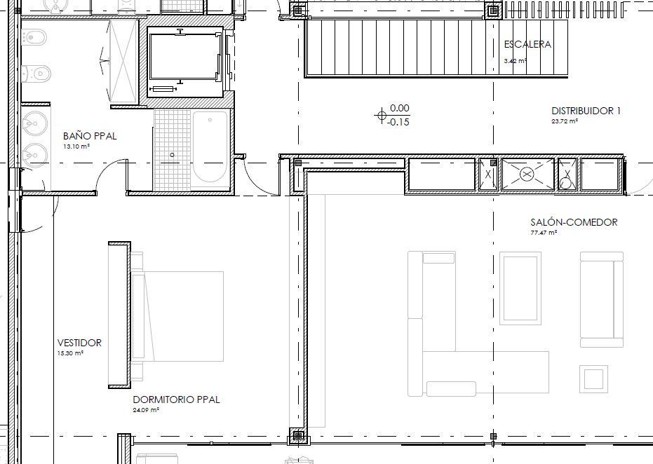 Partición interior vertical entre dos cuartos secos | MURALIT