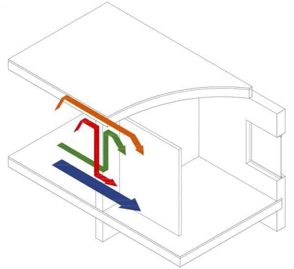 Pared separadora de viviendas con zonas comunes | MURALIT